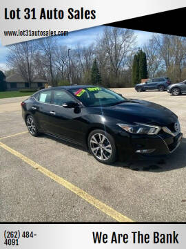 2016 Nissan Maxima for sale at Lot 31 Auto Sales in Kenosha WI