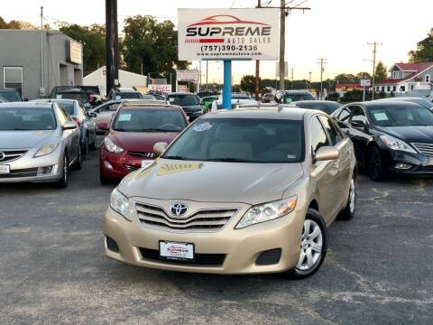 2011 Toyota Camry for sale at Supreme Auto Sales in Chesapeake VA