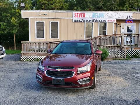 2015 Chevrolet Cruze for sale at Seven and Below Auto Sales, LLC in Rockville MD