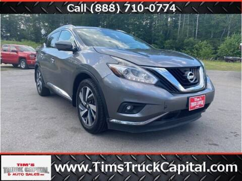 2017 Nissan Murano for sale at TTC AUTO OUTLET/TIM'S TRUCK CAPITAL & AUTO SALES INC ANNEX in Epsom NH