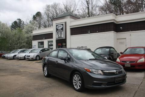 2012 Honda Civic for sale at GTI Auto Exchange in Durham NC