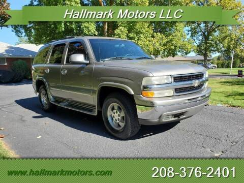 2002 Chevrolet Tahoe for sale at HALLMARK MOTORS LLC in Boise ID