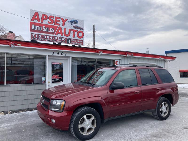2008 Chevrolet TrailBlazer for sale at Apsey Auto in Marshfield WI
