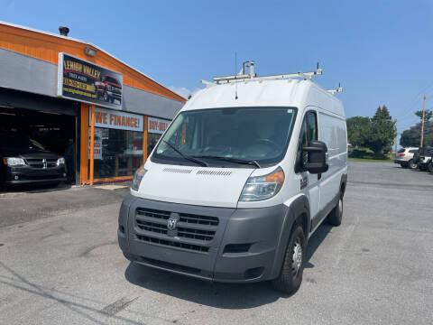 2016 RAM ProMaster Cargo for sale at Lehigh Valley Truck n Auto LLC. in Schnecksville PA