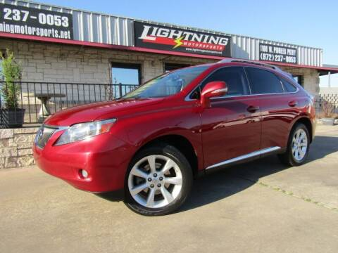2010 Lexus RX 350 for sale at Lightning Motorsports in Grand Prairie TX