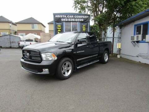 2011 RAM Ram Pickup 1500 for sale at ARISTA CAR COMPANY LLC in Portland OR