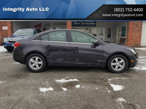 2016 Chevrolet Cruze Limited for sale at Integrity Auto LLC - Integrity Auto 2.0 in St. Albans VT
