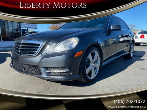 2012 Mercedes-Benz E-Class for sale at Liberty Motors in Billings MT