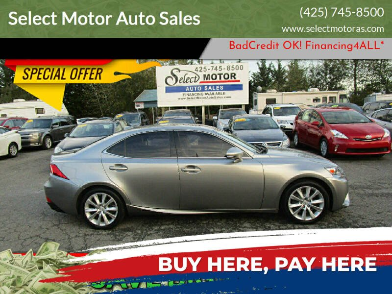 2016 Lexus IS 300 for sale at Select Motor Auto Sales in Lynnwood WA