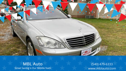 2007 Mercedes-Benz S-Class for sale at MBL Auto in Fredericksburg VA