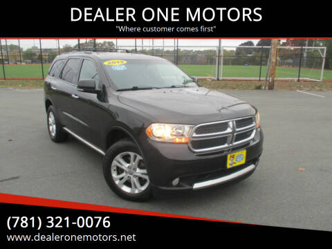 2013 Dodge Durango for sale at DEALER ONE MOTORS in Malden MA