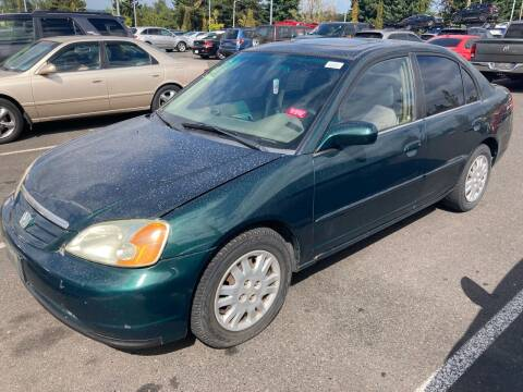 2002 Honda Civic for sale at Blue Line Auto Group in Portland OR