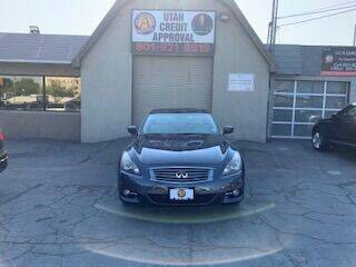 2012 Infiniti G37 Coupe for sale at Utah Credit Approval Auto Sales in Murray UT