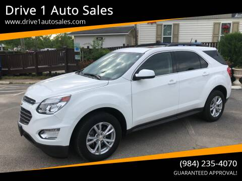 2017 Chevrolet Equinox for sale at Drive 1 Auto Sales in Wake Forest NC