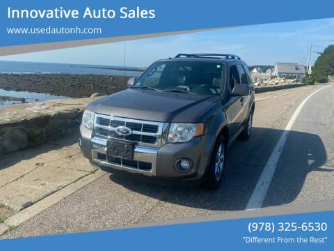2012 Ford Escape for sale at Innovative Auto Sales in North Hampton NH