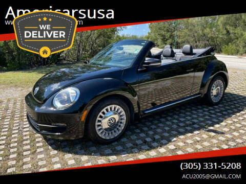 2013 Volkswagen Beetle Convertible for sale at Americarsusa in Hollywood FL