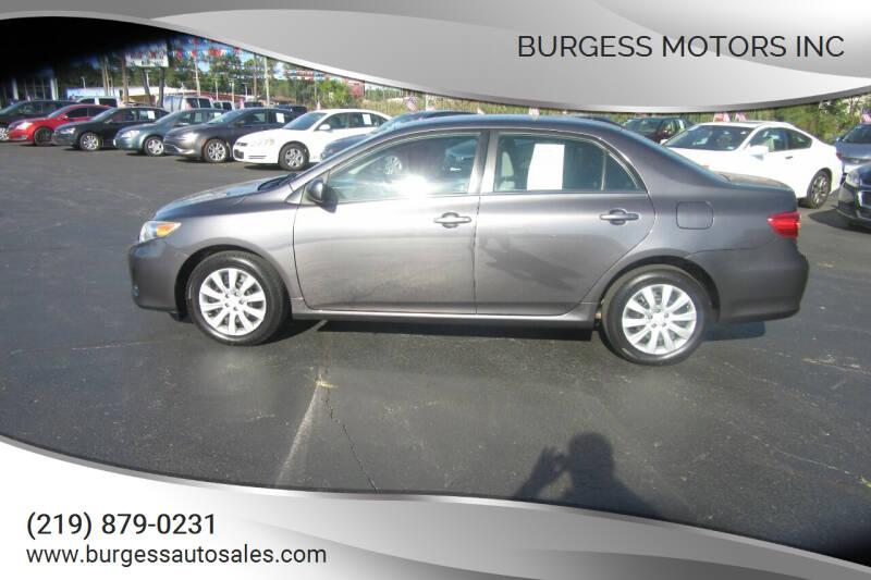 2013 Toyota Corolla for sale at Burgess Motors Inc in Michigan City IN