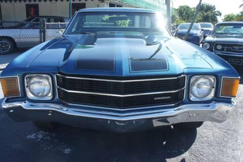 1972 Chevrolet El Camino for sale at Dream Machines USA in Lantana FL