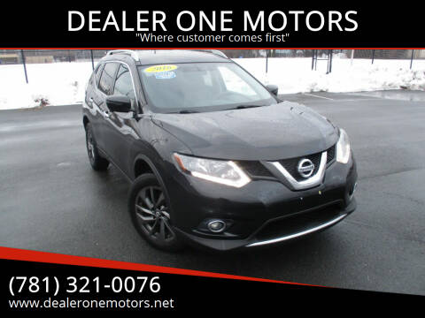 2016 Nissan Rogue for sale at DEALER ONE MOTORS in Malden MA