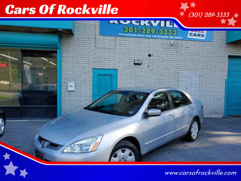 2004 Honda Accord for sale at Cars Of Rockville in Rockville MD