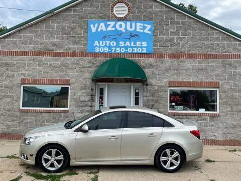 2013 Chevrolet Cruze for sale at VAZQUEZ AUTO SALES in Bloomington IL