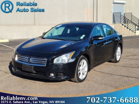 2013 Nissan Maxima for sale at Reliable Auto Sales in Las Vegas NV