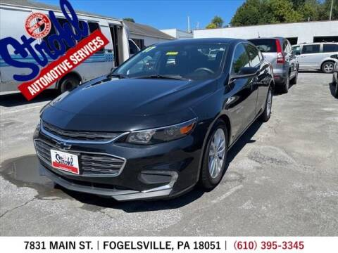 2017 Chevrolet Malibu for sale at Strohl Automotive Services in Fogelsville PA