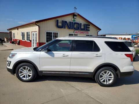 "2017 Ford Explorer for sale at UNIQUE AUTOMOTIVE ""BE UNIQUE"" in Garden City KS"