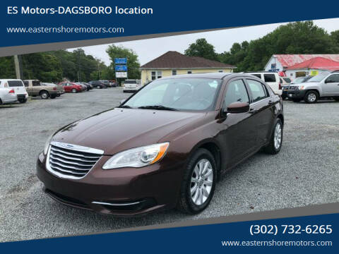 2013 Chrysler 200 for sale at ES Motors-DAGSBORO location in Dagsboro DE