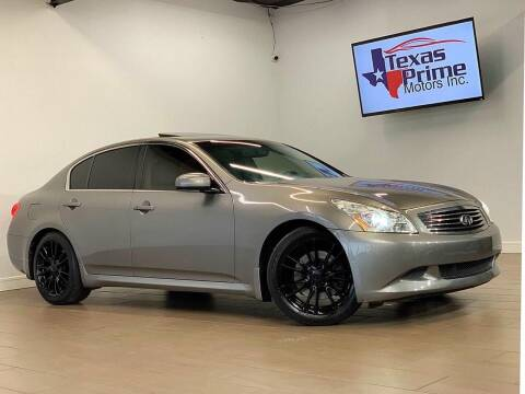 2008 Infiniti G35 for sale at Texas Prime Motors in Houston TX