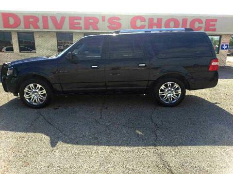 2011 Ford Expedition EL for sale at Driver's Choice Sherman in Sherman TX