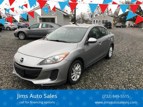 2012 Mazda MAZDA3 for sale at Jims Auto Sales in Lakehurst NJ