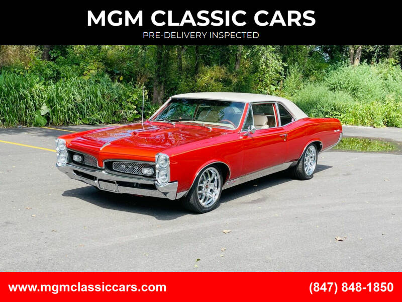 1967 Pontiac GTO for sale at MGM CLASSIC CARS in Addison IL