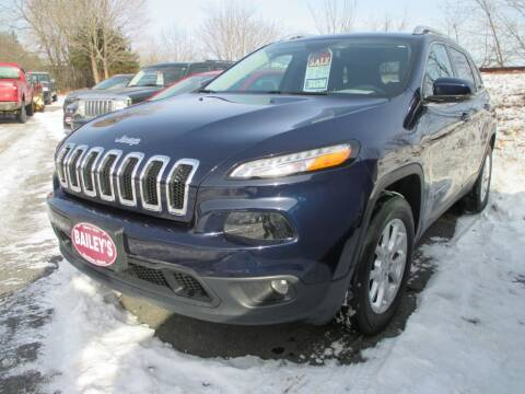2016 Jeep Cherokee for sale at Percy Bailey Auto Sales Inc in Gardiner ME