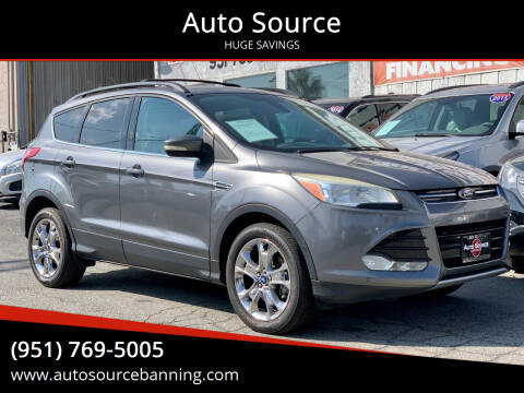 2013 Ford Escape for sale at Auto Source in Banning CA