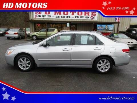 2004 Honda Accord for sale at HD MOTORS in Kingsport TN