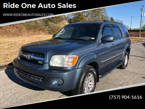 2005 Toyota Sequoia for sale at Ride One Auto Sales in Norfolk VA