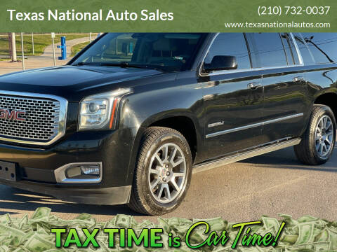 2016 GMC Yukon XL for sale at Texas National Auto Sales in San Antonio TX