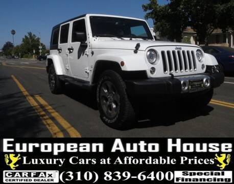 2018 Jeep Wrangler JK Unlimited for sale at European Auto House in Los Angeles CA