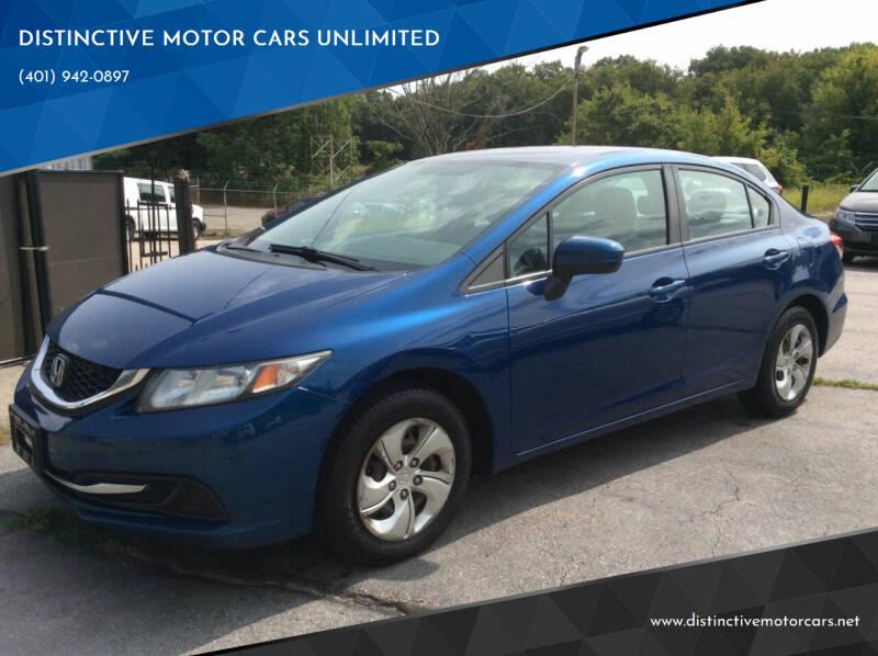 2014 Honda Civic for sale at DISTINCTIVE MOTOR CARS UNLIMITED in Johnston RI