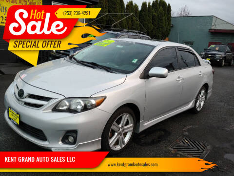2013 Toyota Corolla for sale at KENT GRAND AUTO SALES LLC in Kent WA