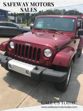 2012 Jeep Wrangler Unlimited for sale at Safeway Motors Sales in Laurinburg NC