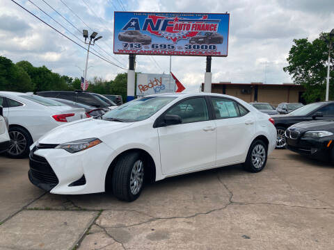 2017 Toyota Corolla for sale at ANF AUTO FINANCE in Houston TX