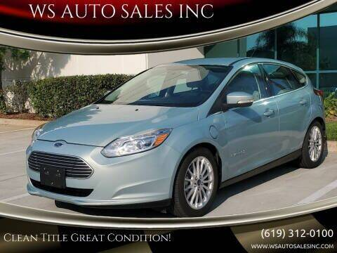 2012 Ford Focus for sale at WS AUTO SALES INC in El Cajon CA