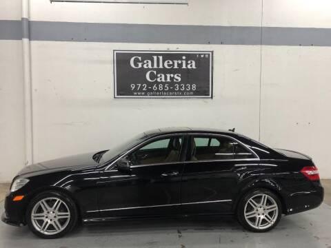 2010 Mercedes-Benz E-Class for sale at Galleria Cars in Dallas TX