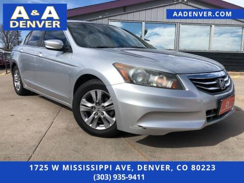 2012 Honda Accord for sale at A & A AUTO LLC in Denver CO