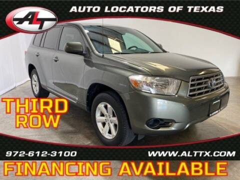 2008 Toyota Highlander for sale at AUTO LOCATORS OF TEXAS in Plano TX