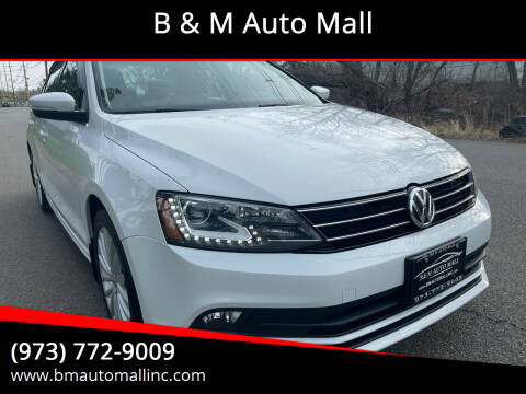 2016 Volkswagen Jetta for sale at B & M Auto Mall in Clifton NJ