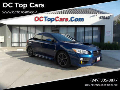 2015 Subaru WRX for sale at OC Top Cars in Irvine CA