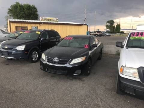 2011 Toyota Camry for sale at BELOW BOOK AUTO SALES in Idaho Falls ID